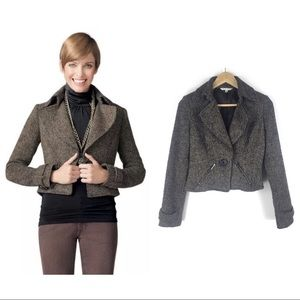 CAbi Size 2 Tweed Cropped Jacket